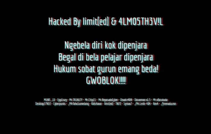 Hacker Protes Ketidakadilan, Situs PN Kepanjen Kena Deface