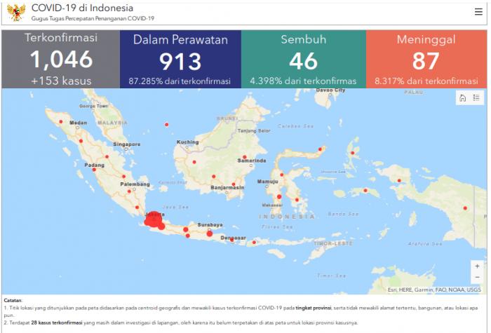 Soal Peta Sebaran Corona, BNPB: Susah, Harusnya sampai RT/RW