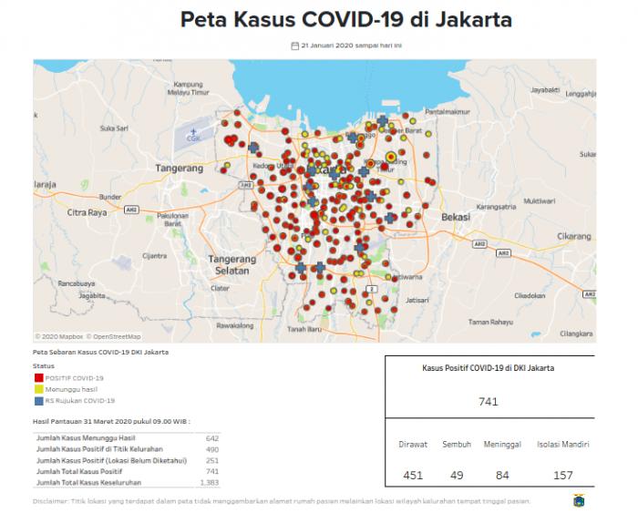 News Peta Corona Jakarta Per 31 Maret Ini 15 Kelurahan Terbanyak