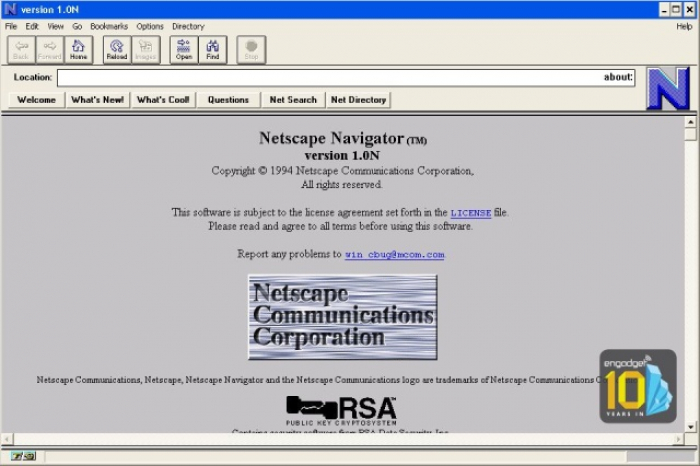 Pelopornya: Netscape, perusahaan peramban web sebelum Google yang meluncurkan programnya pada 1995.