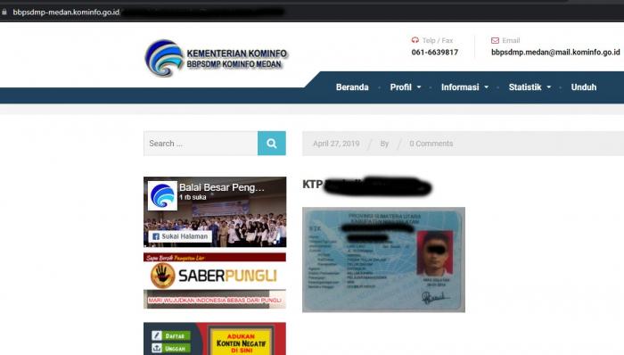 Ada Foto KTP Orang Tanpa Sensor di Situsnya, Begini Kata Pejabat Kominfo