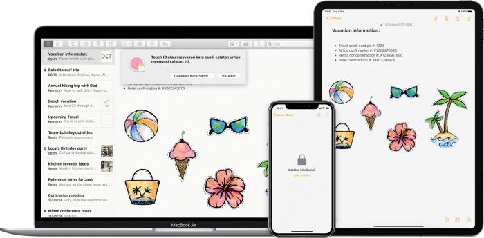 Hai Pengguna iOS, Ini Cara Mudah Proteksi Catatan di Notes