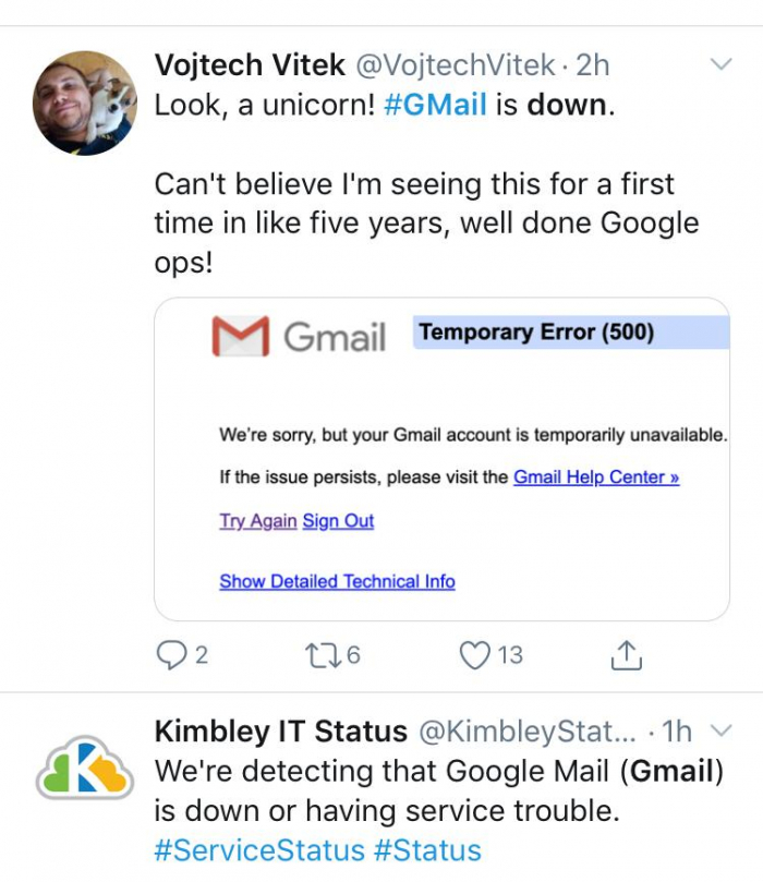 Cybernomics Netizen Keluhkan Gmail Down Apa Yang Terjadi Cyberthreat Id