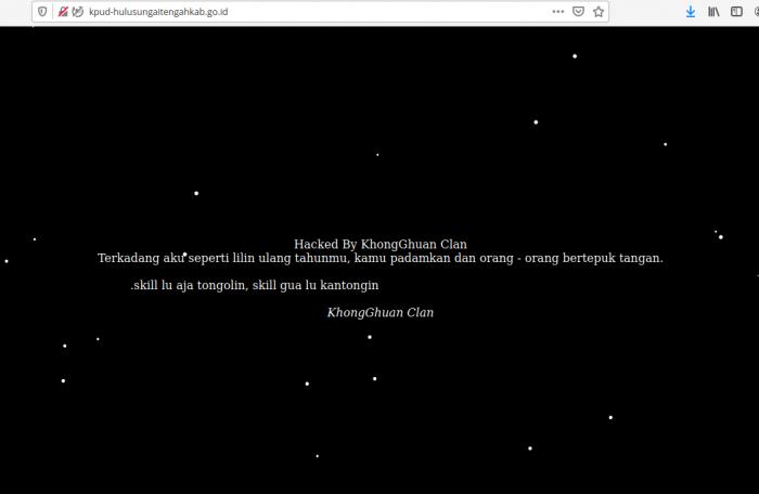 Dikerjai Hacker, KPU Hulu Sungai Tengah Akui Websitenya Tak Terurus